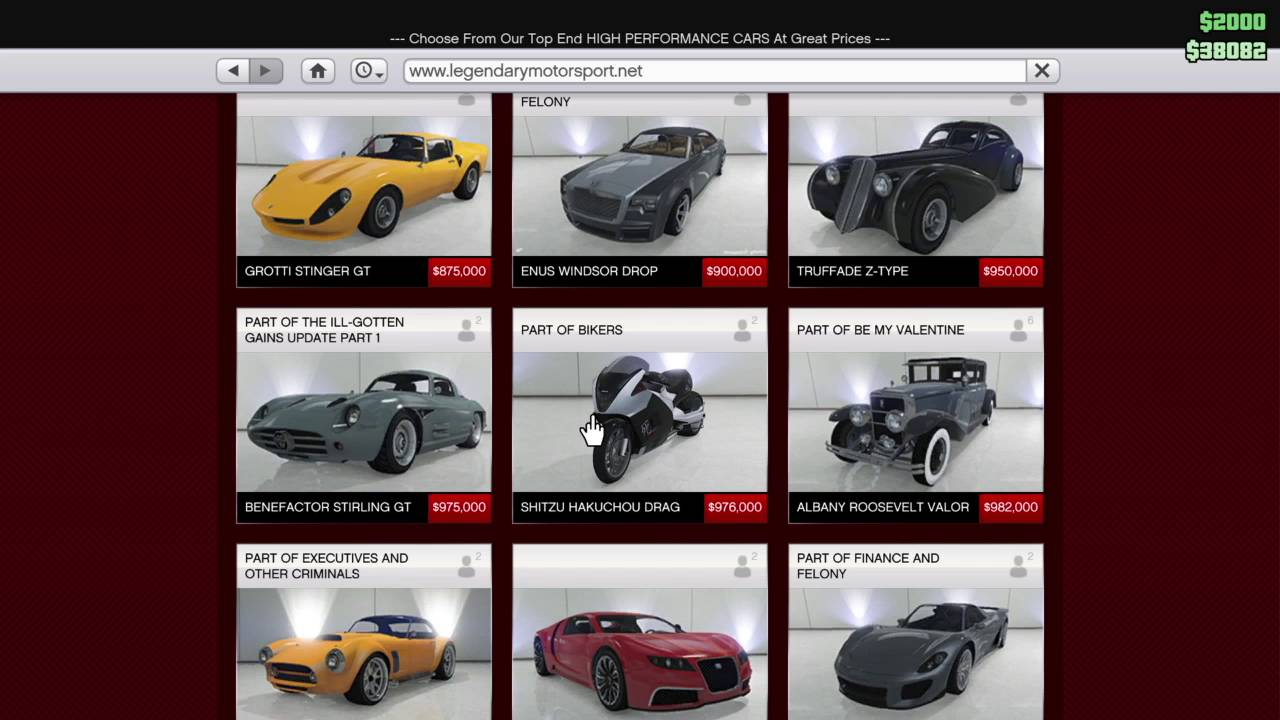 gta v car list
