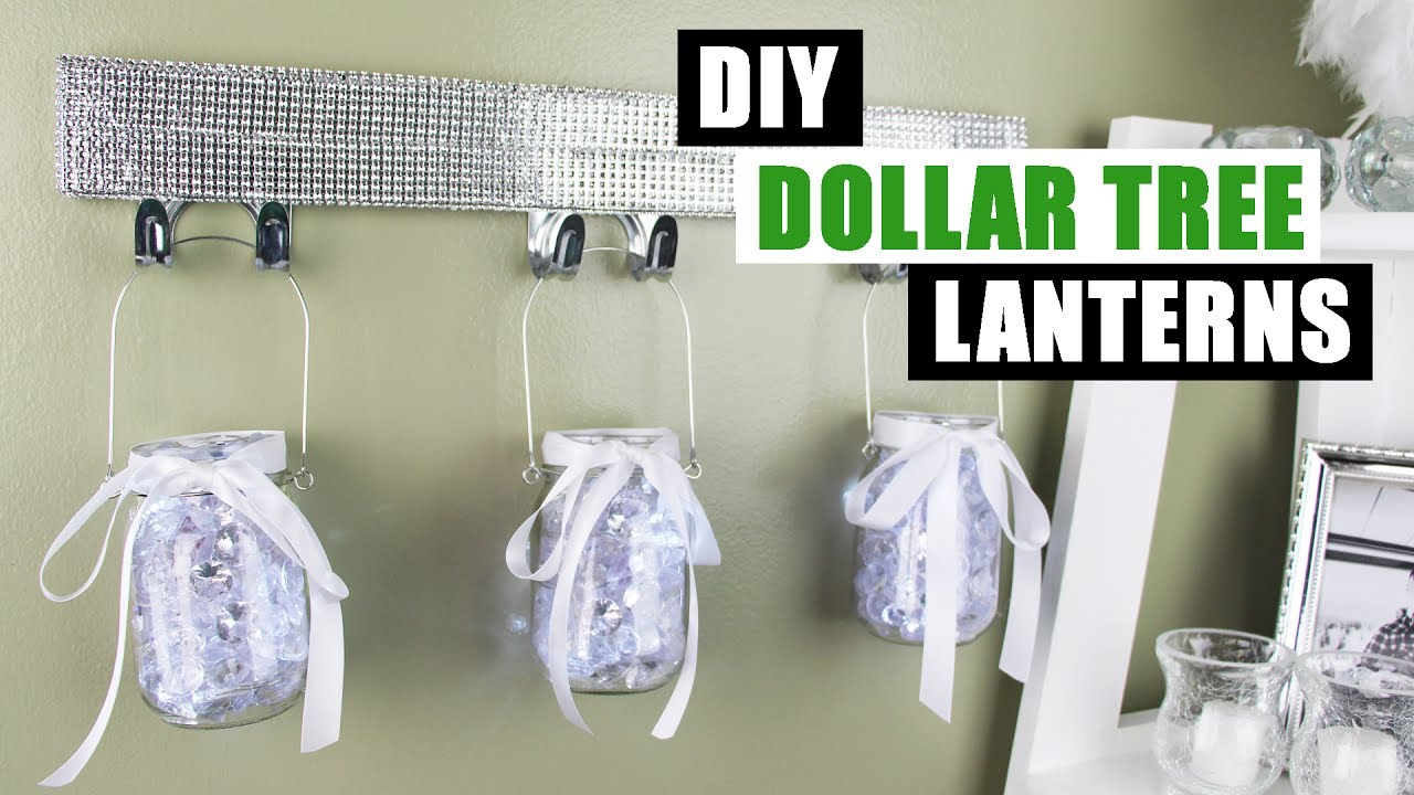 Diy dollar tree light up lanterns dollar store diy bling for Bathroom decor dollar tree