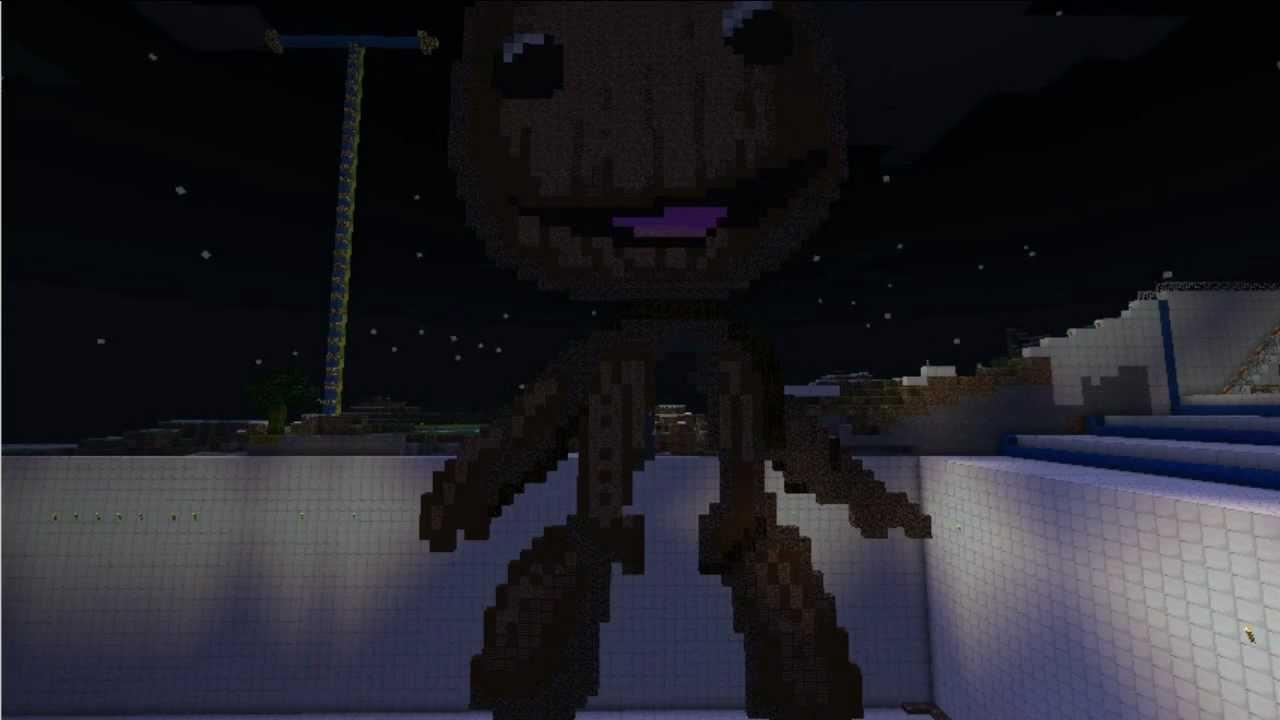 Minecraft Pixelart Sackboy And Halloween Party Invitation 2011