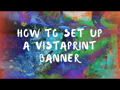 How to set up a VistaPrint banner - YouTube