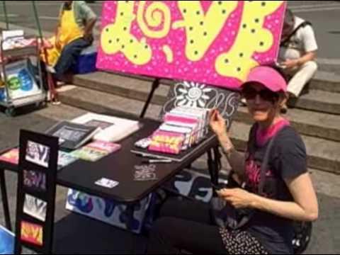 Love Jasmine: Drawing LOVE Spiral @ Union Square NYC