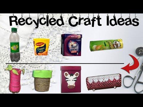 Recycled Craft Ideas - DIY Jewellery Box & Toy Storage Box