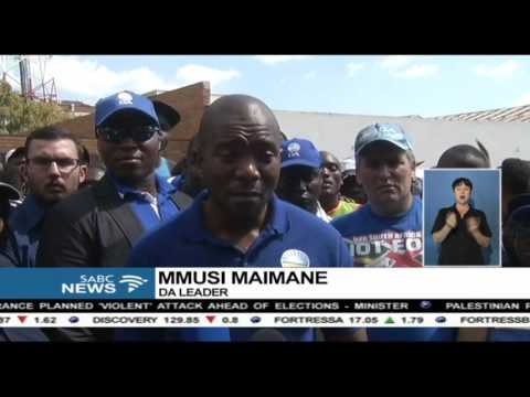 The DA in Limpopo marched to Treasury against Zuma