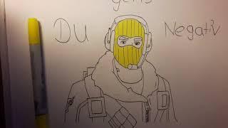 Drawing Fortnite Skin ( Raptor) Paix_lexo