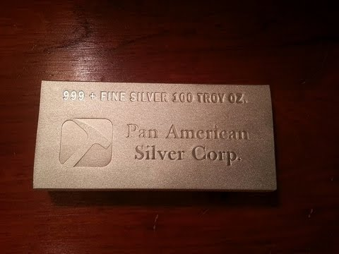 100 Ounce Pan American silver unboxing