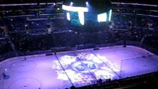 Los Angeles Kings Laser Light Show Intro and National Anthem      Staples Center 12-2-10