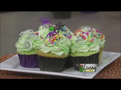 Glow Under The Blacklight Cupcakes