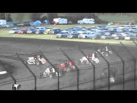 USAC Midgets - June 13, 2012 - Gas City - Heat 3 (Larson, Windom, Wean, Pittman)