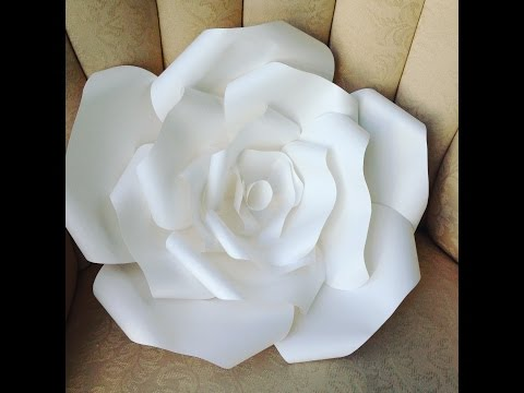 DIY LARGE  Paper Rose Flower