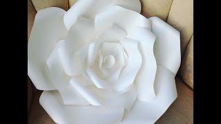 DIY LARGE  Paper Rose