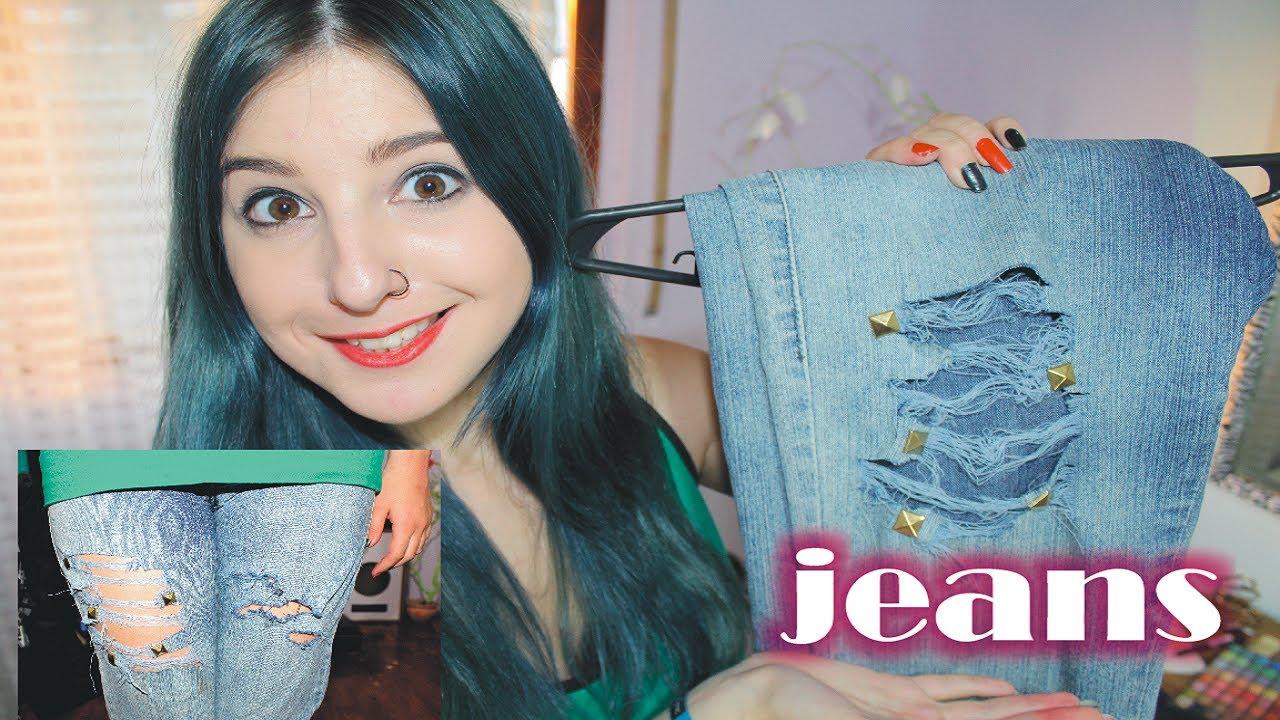Con Rompe Tus ¡fácilmente De Jeans Dos Estilo ✩ Rasgar Formas g76YbfvIy