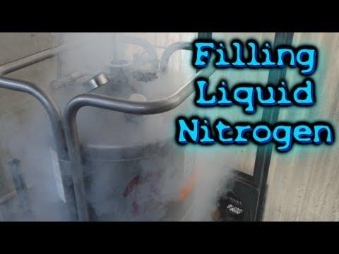 Filling A GIANT Liquid Nitrogen Tank!