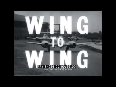 1951 ROYAL AIR FORCE  EARLY METEOR JET AIRCRAFT  HISTORIC FILM 34264