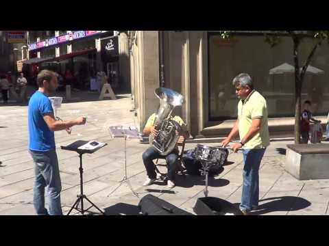 Flashmob Waltz n2 de shostakovich- Plaza Curros Enrriquez, Pontevedra en streaming