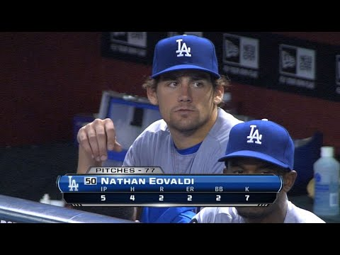 Nathan Eovaldi wins his Major League debut