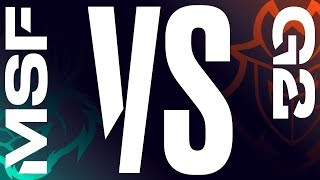 MSF vs. G2 - Week 5 Day 1 | LEC Spring Split | Misfits Gaming vs. G2 Esports (2019)