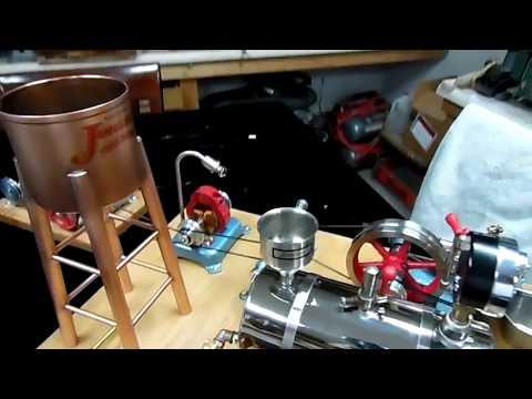 Jensen steam engine boiler funnel