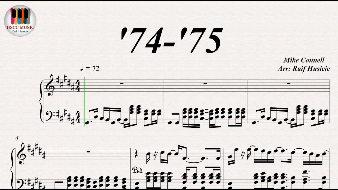 partition guitare 74 75