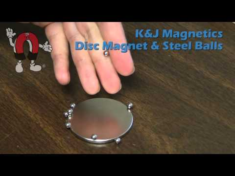 K&J Magnetics - DY02 Disc Magnet and Steel Balls