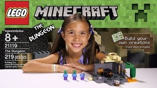 the dungeon lego minecraft set 21119 unboxing review time lapse build