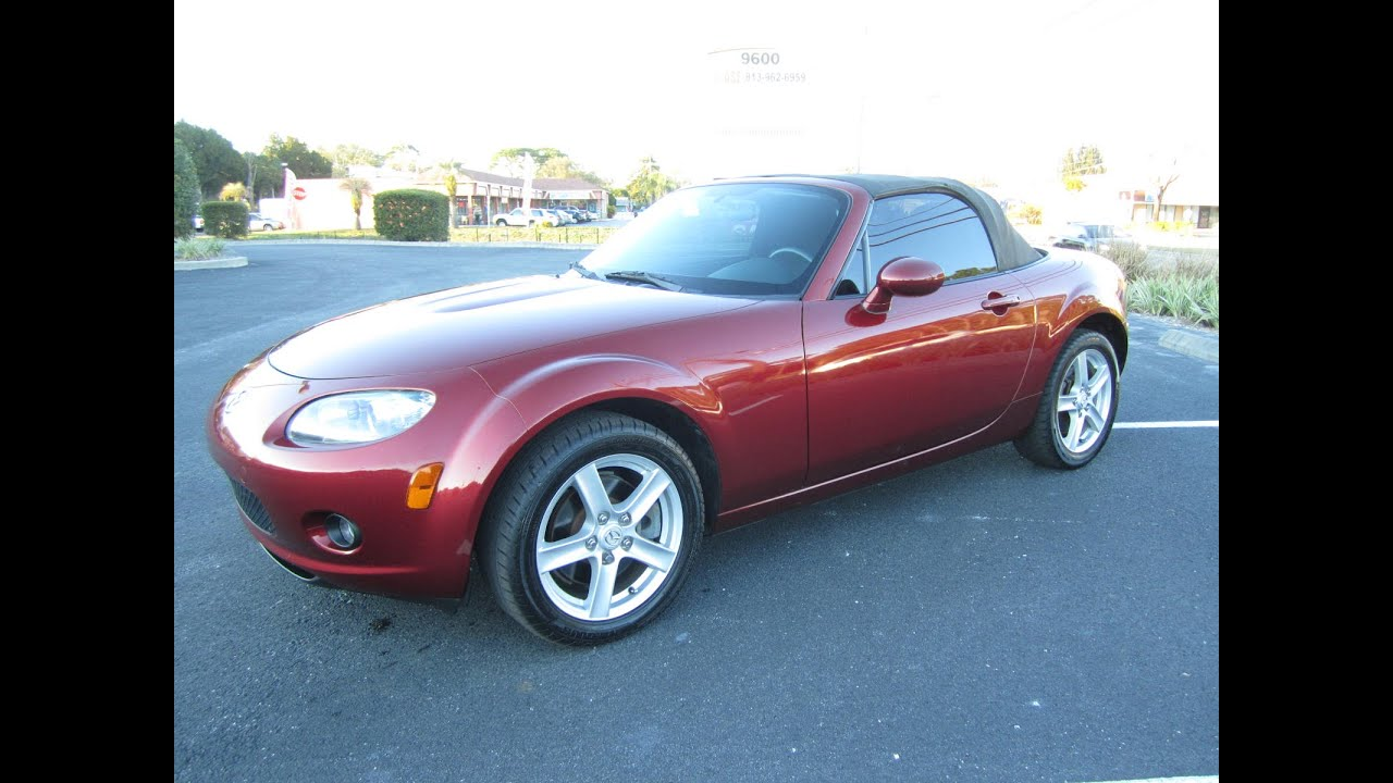 sold 2006 mazda miata mx 5 sport 86k miles meticulous motors inc florida for sale youtube. Black Bedroom Furniture Sets. Home Design Ideas
