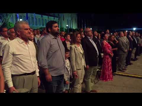 Гимн Греции на фестивале военных оркестров в Афинах