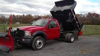 SOLD Ford F550 with dump snow plow salt spreader