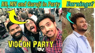 Mumbiker Nikhil Technical GuruJi and Bhuvan Bam In VidCon Party || UIC Earnings? || Stalking king