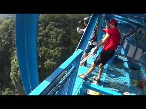 日本最大のバンジージャンプ高さ100メートル、茨城県の竜神大吊橋に参上!!