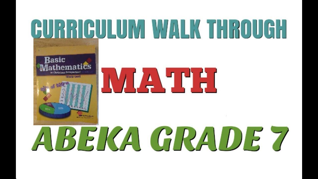 Curriculum Walk-through of Abeka Basic Mathematics, grade 7