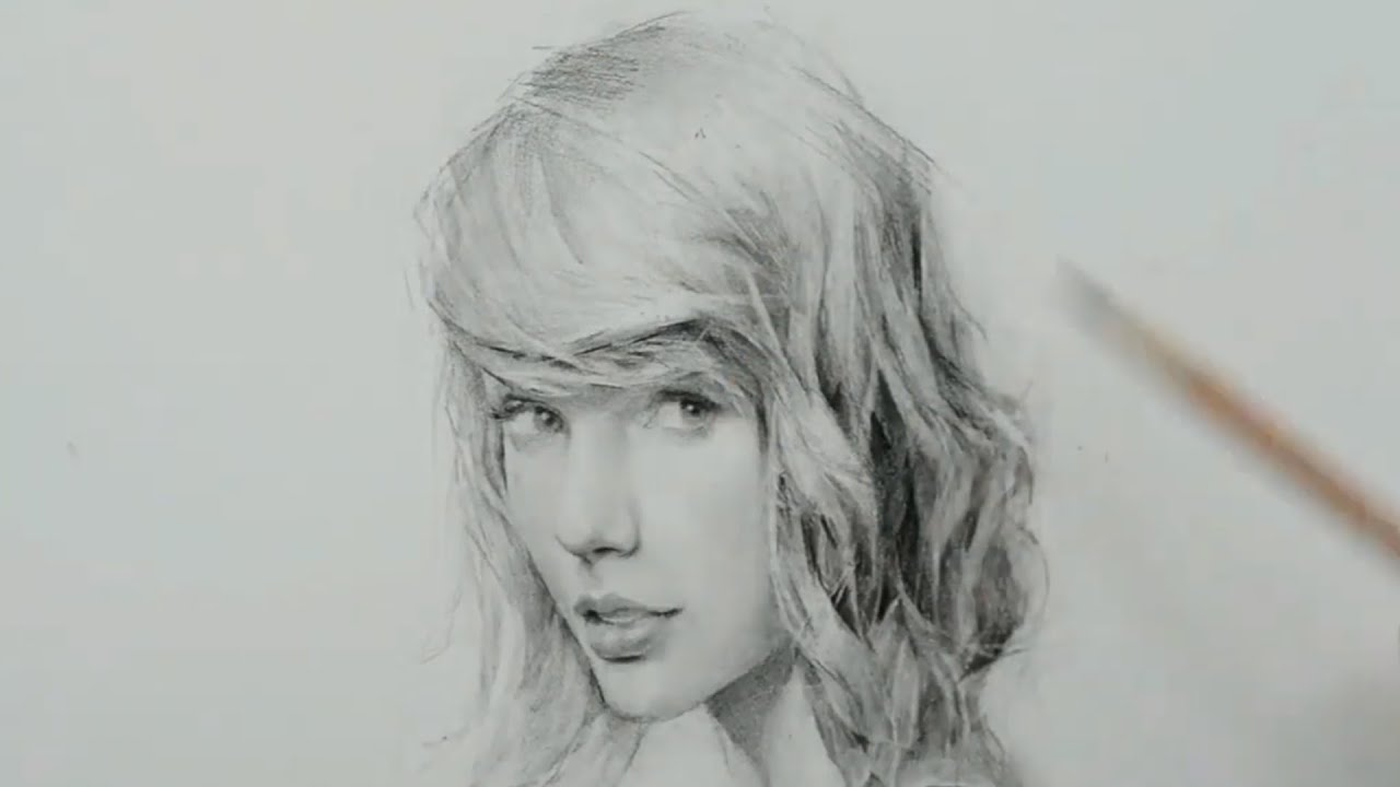 Taylor Swift Pencil Drawing