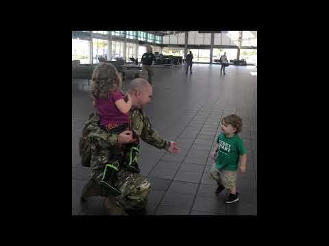None - WATCH: Boy Has Hilarious Reaction To Soldier Dad's Return
