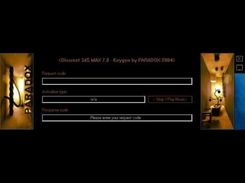 by final 3ds v7.0 max paradox keygen