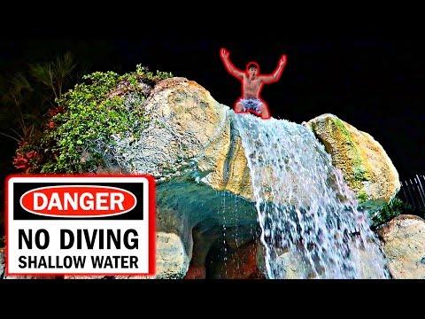 CLIFF JUMPING AT DISNEY!