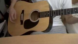Blurry acoustic guitar cover ( Puddle of Mudd)