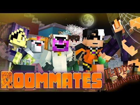 """Minecraft ROOMMATES! - """"TRICK OR TREATING"""" Halloween Special! (Minecraft Roleplay)"""