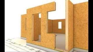Animacion construccion de casa modular paneles SIP decocasas
