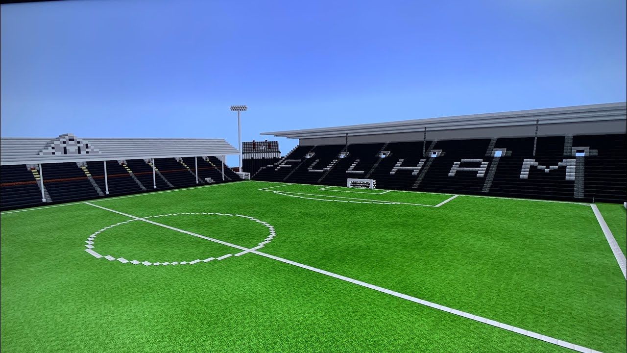 Official Minecraft Stadium Craven Cottage Fulham Fc Youtube