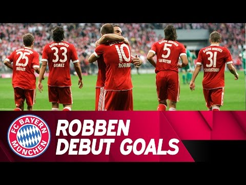 Arjen Robben Scores Brace on FC Bayern Debut!