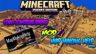 MapMakingHelp Mod|Minecraft PE 0.13.1/0.13.X|Como construir rapido