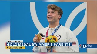 'Somebody wake me up': Proud dad reacts to Clearwater's Bobby Finke winning gold at Tokyo Olympics