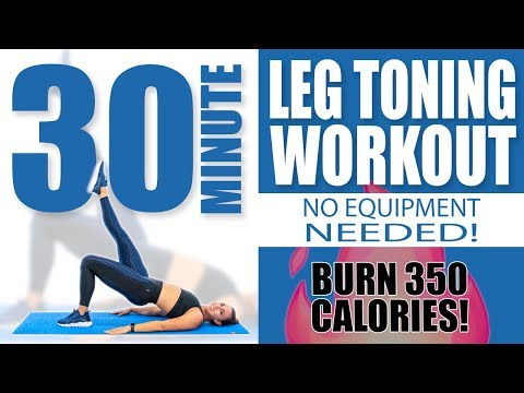30 Minute Leg Toning Workout No Equipment Needed 🔥Burn 350 Calories! 🔥