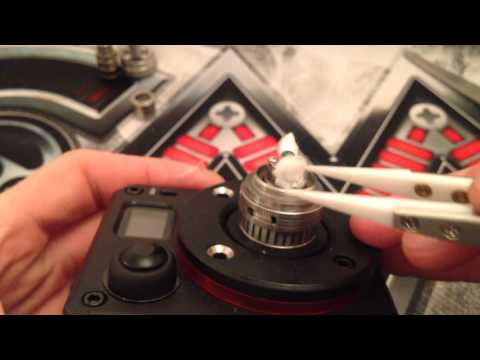 How to wick a uwell crown rba head