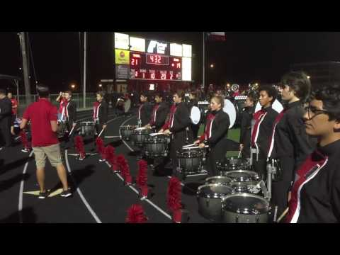 Tomball High School Band 2016 - Halftime Show Part 1 Warmup - Drumline