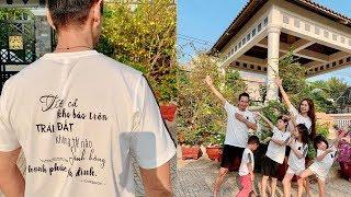 Gia đình Lý Hải Minh Hà cùng về quê đón Tết, khoe áo đồng phục với dòng chữ đầy ý nghĩa