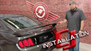 2015-2017 Mustang Fastback Anderson Composites Rear Spoiler GT350R Type-GR Carbon Fiber Installation