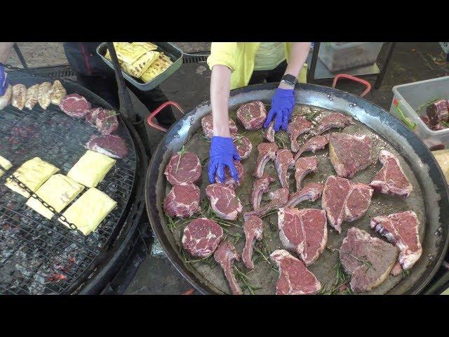 Huge Pan, Huge Grill, Huge Dose of Meat. Kiev Street Food, Ukraine