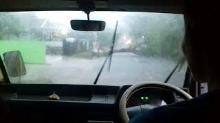 Download Video Hujan lebat Pohon sampe tumbang di tengah jalan terpaksa balik arah MP3 3GP MP4