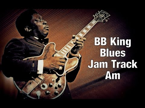 BB King Style Blues Backing Track in A Minor 105 bpm