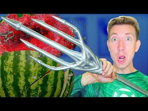 5 Justice League Weapons vs Fruit Ninja